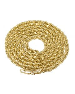 10K Yellow Gold 3.5MM Tuscany Rope Chain 22-26 Inches