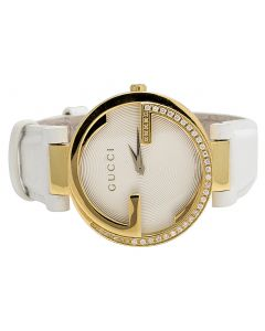 Ladies Gucci Interlocking Latin Grammy Diamond Watch YA133313 0.75 Ct