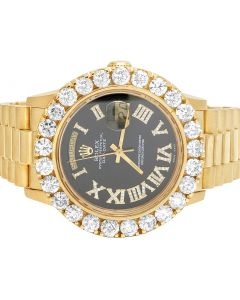 Rolex 18K Yellow Gold Presidential 36MM 18038 Day-Date Diamond Watch 8.5 Ct