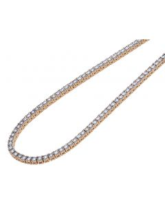 Rose Gold 1.5 Pointer Illusion Set Tennis Chain 3MM 16-24""