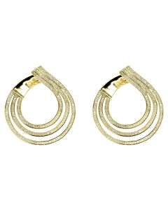 2ct Tear Drop Fashion earrings in 10k Yellow Gold 1.4 Inch