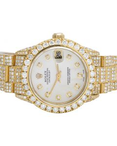 Rolex 18K Yellow Gold Presidential 31MM 78278 Diamond Watch 16.75 Ct