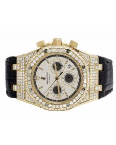 Mens 39 MM Audemars Piguet Royal Oak Offshore18k Yellow Gold diamond (12.5 Ct)