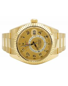 18k Rolex Sky Dweller 326938 Yellow Gold 42MM Gold Dial