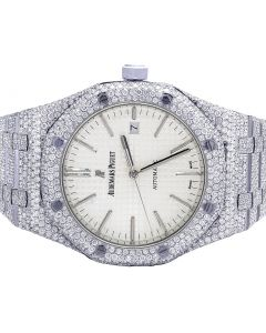 Audemars Piguet Royal Oak 41MM Stainless Steel VS Diamond Watch 31.5 Ct