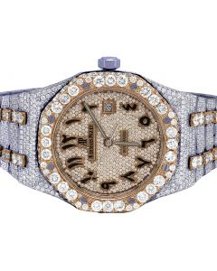 18K/Steel Audemars Piguet Royal Oak Steel 41MM Diamond Watch 36.85 Ct