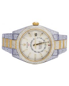 Rolex Sky Dweller 18K/ Steel Two Tone 42MM Diamond Watch 31.5 Ct