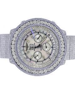 Breitling Bentley 6.75 A4436412 55MM Bezel Diamond Watch 24.0 Ct