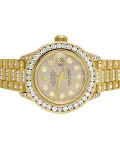 Rolex 18K Yellow Gold 26MM President 69178 Diamond Watch 9.95 Ct