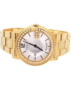 Yellow Gold YA101306 40 MM Full Diamond Custom Gucci Watch 7 Ct