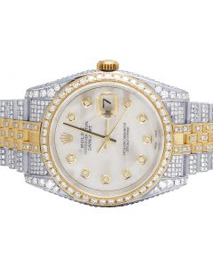 Rolex Datejust 36MM 116233 18K/ Steel Two Tone Diamond Watch 13.5 Ct
