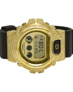 Casio G Shock Brown Glossy 6900 White Diamond Watch 3.0 Ct