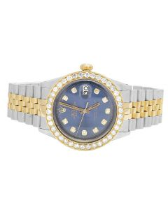 Rolex Datejust 18K/ Steel Two Tone 36MM Diamond Watch (3.35 Ct)