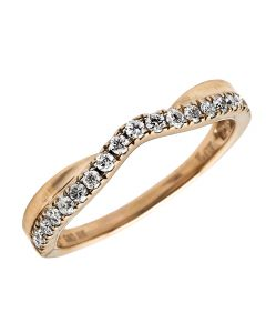10K Rose Gold Genuine Round Diamond Solitaire Engagement Ring 0.25 ct