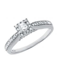 Round Solitaire Diamond Engagement Ring (0.50 ct)