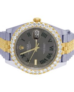 Rolex Datejust II 126333 41MM 18K/ Steel Diamond Watch 4.5 Ct