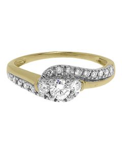 14k Yellow Gold Round Solitaire Diamond Engagement Ring(0.50 ct)