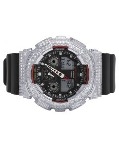 Casio G-Shock GA-100-1A4DR 51MM White Simulated Diamond Watch 6.0 Ct