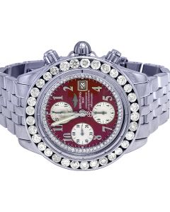 Breitling Evolution Windrider 44MM A13356 Red Dial Watch 6.5 Ct
