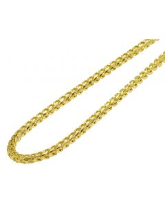 10K Yellow Gold Solid Diamond Cut Franco Chain 5.3MM 18-30 Inches