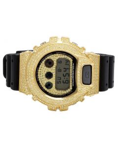 Casio G Shock 6900 Canary Simulated Diamond Watch 5.5 Ct