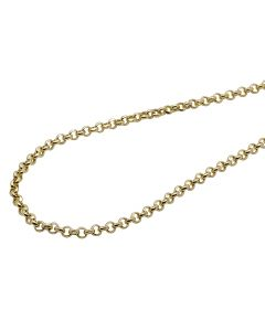 Men's Real 10K Yellow Gold Rolo Chain Necklace 2.5MM 18-26 inches
