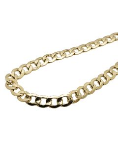 10K Yellow Gold Hollow Miami Cuban Link 10.5MM Chain 24-36""