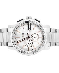 Mens G-Chrono Gucci 44 MM Diamond Watch YA101201 3 Ct