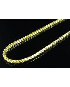 .925 Sterling Silver Yellow Finish Franco Box Chain 5mm