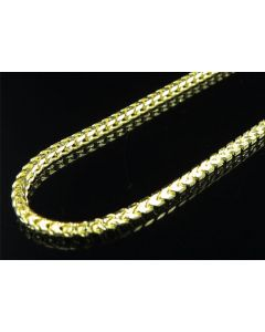 .925 Sterling Silver Yellow Finish Franco Box Chain 6mm