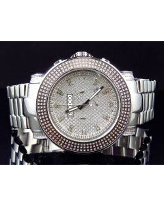 Mens Diamond and Diamond Iced Out Diamond Watch (4 Ct)