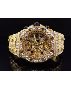 Mens 42 MM Audemars Piguet Royal Oak Offshore 18k Yellow Gold with VS diamond (38 Ct)