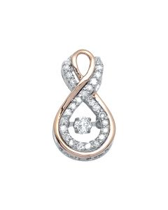 10k Gold Two Tone Infinity Dancing Rhythm Diamond Charm (0.25 ct)