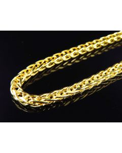 Bonded 1/20th 10K Yellow Gold 5.5 MM Wheat Chain 30-38 Inches