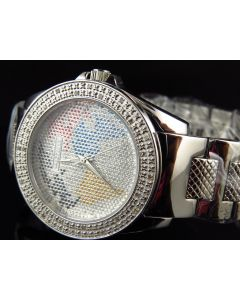 Ladies Jojino by Joe Rodeo World Map Face Diamond Watch IJ-1043 (0.25 Ct)