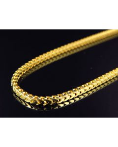 "10K Yellow Gold Solid Franco Link Style Chain 24-36"" (2MM)"