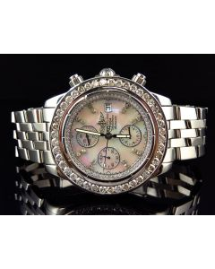 Custom Breitling Evolution Diamond Watch (6 Ct)