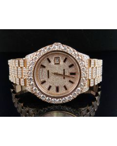 18k Rose Gold Rolex Day-Date 2 218235 President with 30.5 Ct Diamond