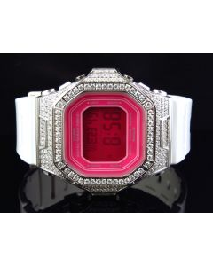 G-Shock/G Shock Ladies White Simulated Diamond Watch 5600