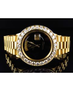 Rolex President 18k Day-Date with Custom Diamond Bezel (7.2 ct)