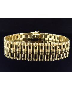"""Solid 10K Yellow Gold Jubilee Band Style Bracelet 8.5"""""""