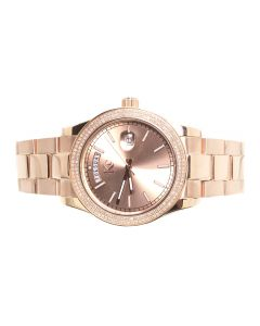 KC Rose Gold Mens Watch 41mm (1.0 ct)