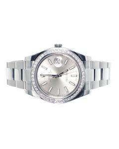 Rolex Datejust II Watch w/ Custom Set Diamonds (2.5 ct)