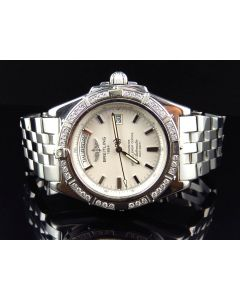 Breitling A45355 Windrider Headwind Day & Date White Dial Stainless Steel with Diamonds (2 Ct)