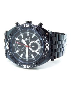 Black Aqua Master W#351 Diamond Watch (.25 Ct)