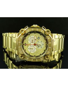 Aqua Master Yellow Gold Chrono 0.32ct Diamond Quartz Watch W#142-81-8