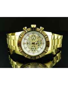 Aqua Master Yellow Gold Chrono 0.25ct Diamond Quartz Watch W#333