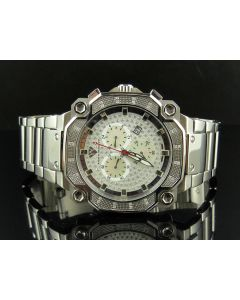 Aqua Master Stainless Steel Chrono 0.32ct Diamond Quartz Watch W#142-81-8