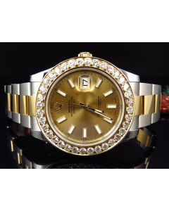 Rolex Datejust II 116333 Watch w/ Custom Set Diamonds (4.5 ct)