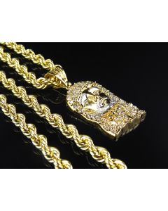 Hollow Rope Chain 5.0 MM in 1/10th 10K Yellow Gold